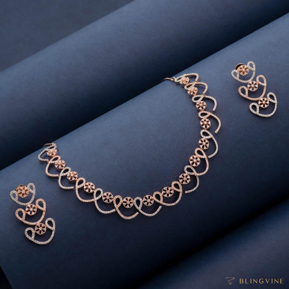 Izra Crystal Necklace Set - Blingvine