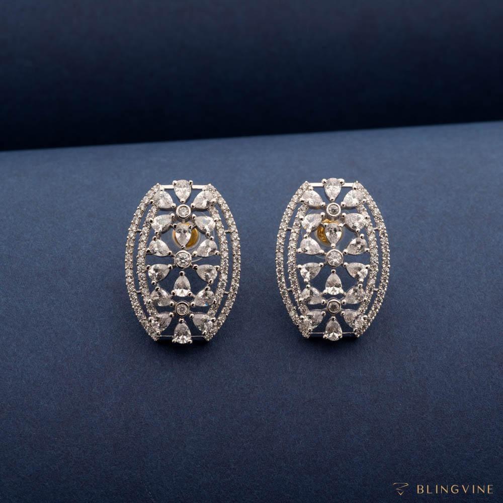 Chloe Crystal Stud Earrings - Blingvine