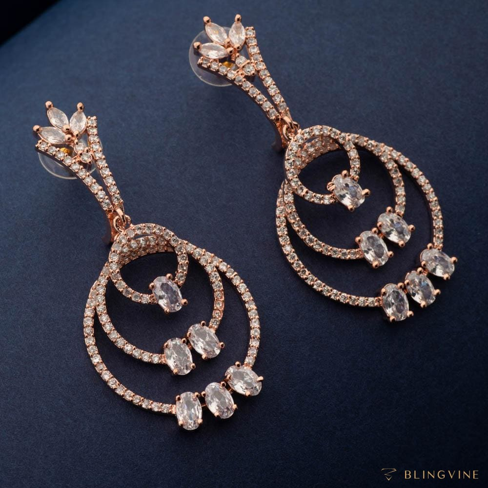 Harper Crystal long earrings - Blingvine