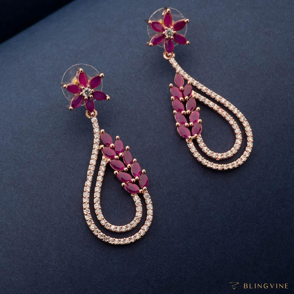 Hiya Crystal Long Earrings - Blingvine