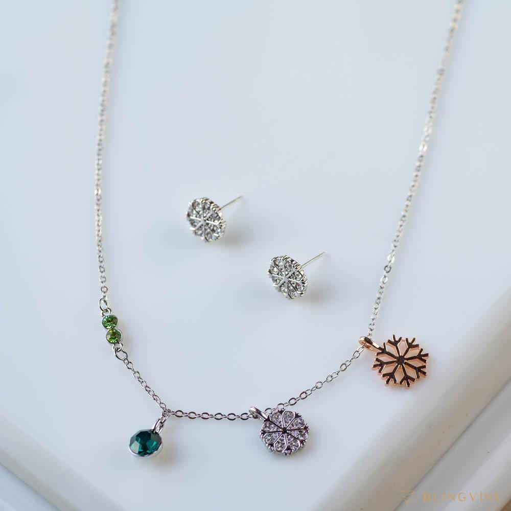 Charms Pendant Necklace Set