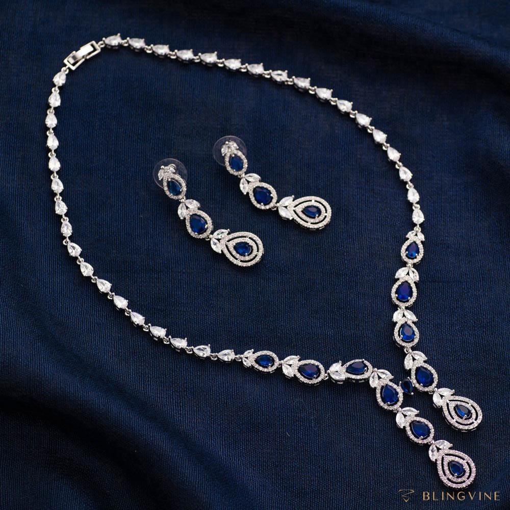 Vogue Necklace Set - Sapphire Blue
