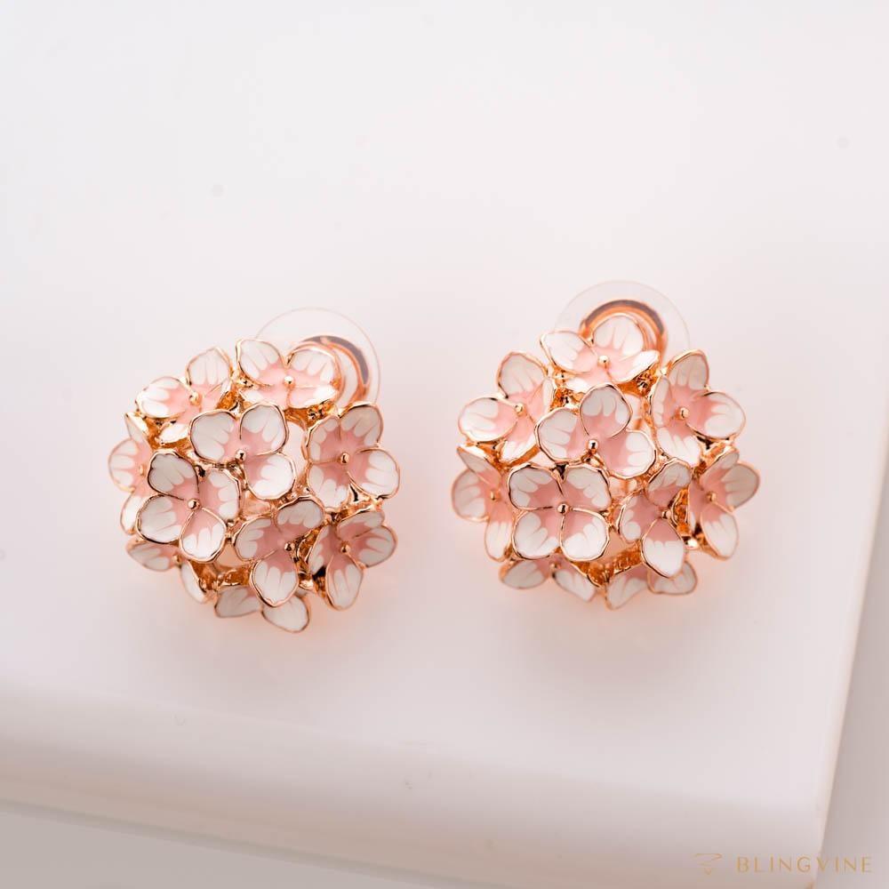 Forget Me Not Enamel Floral Stud Earrings