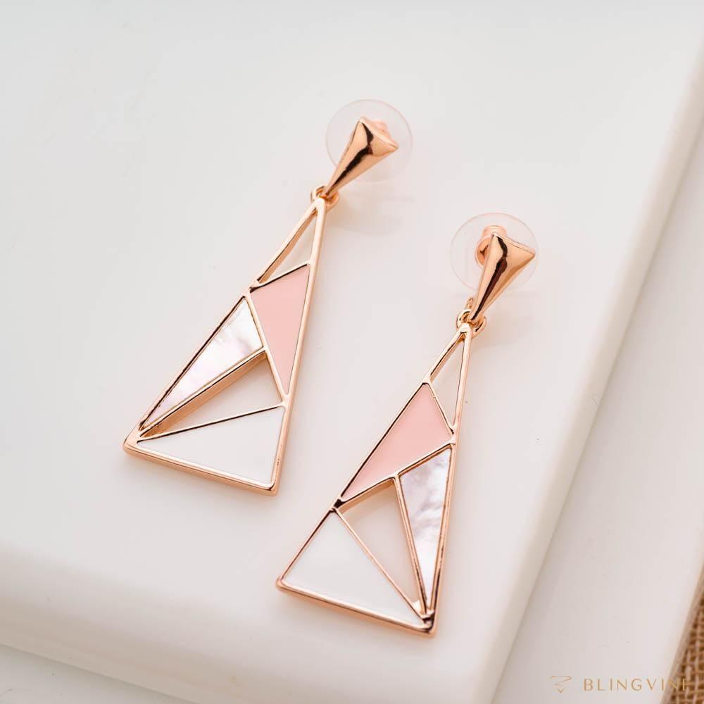Pastel Pyramids Long Earrings - Blingvine