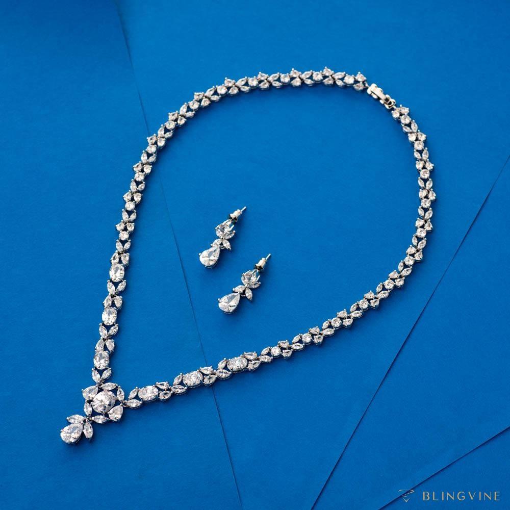 Kasturi Crystal Necklace Set