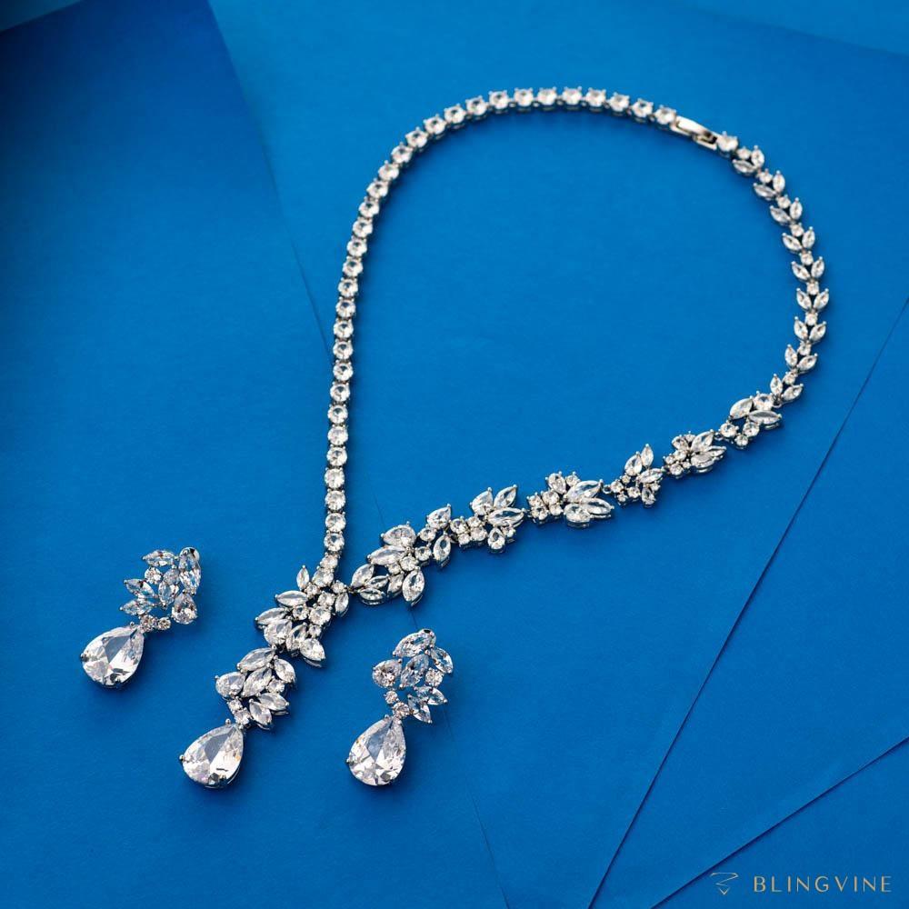 Arista Crystal Necklace Set - Blingvine