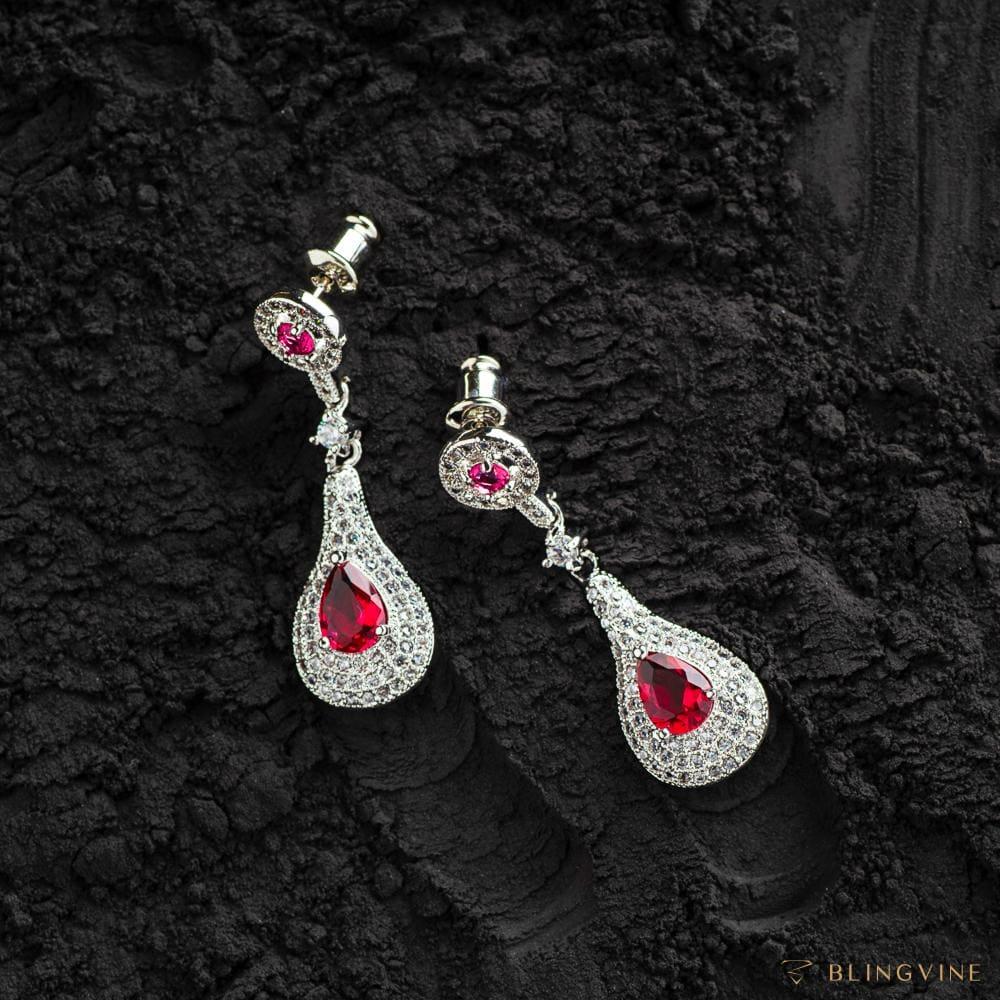 Sarah Long Earrings - BlingVine