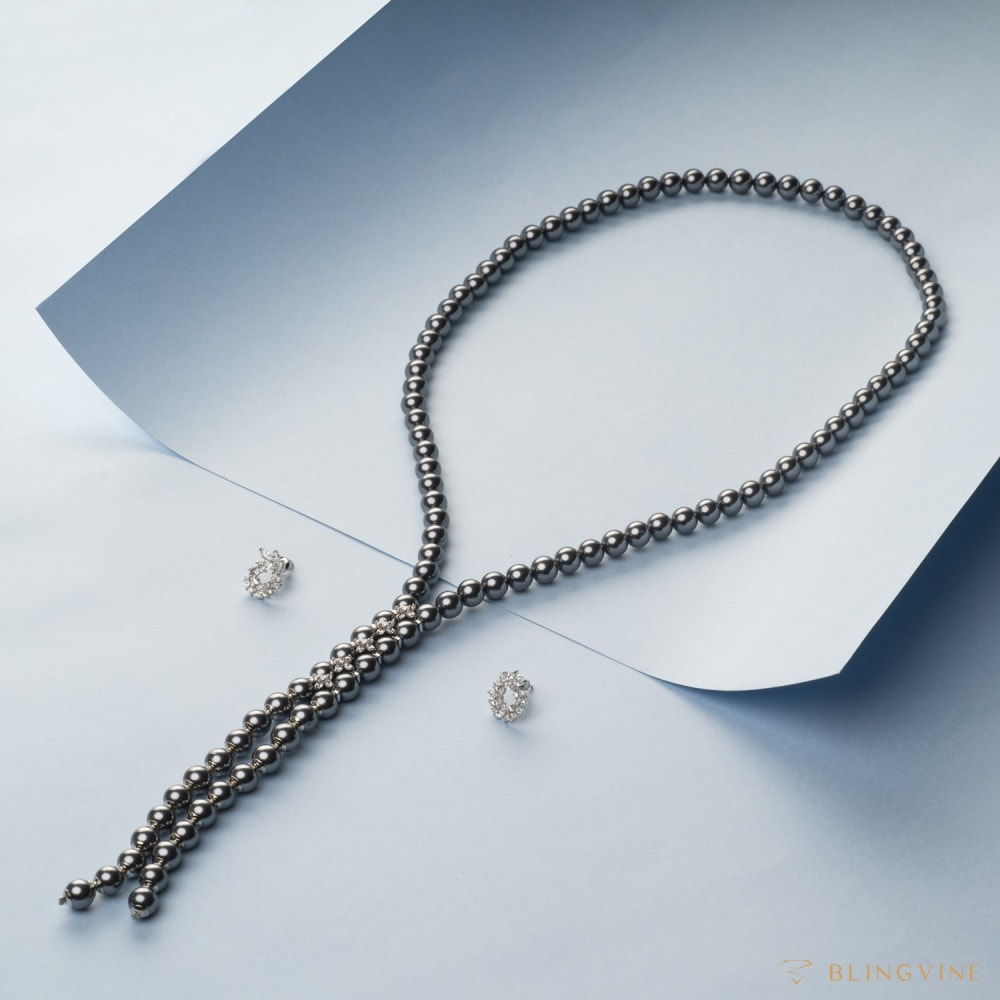 Firefly Long Pearl Necklace Set