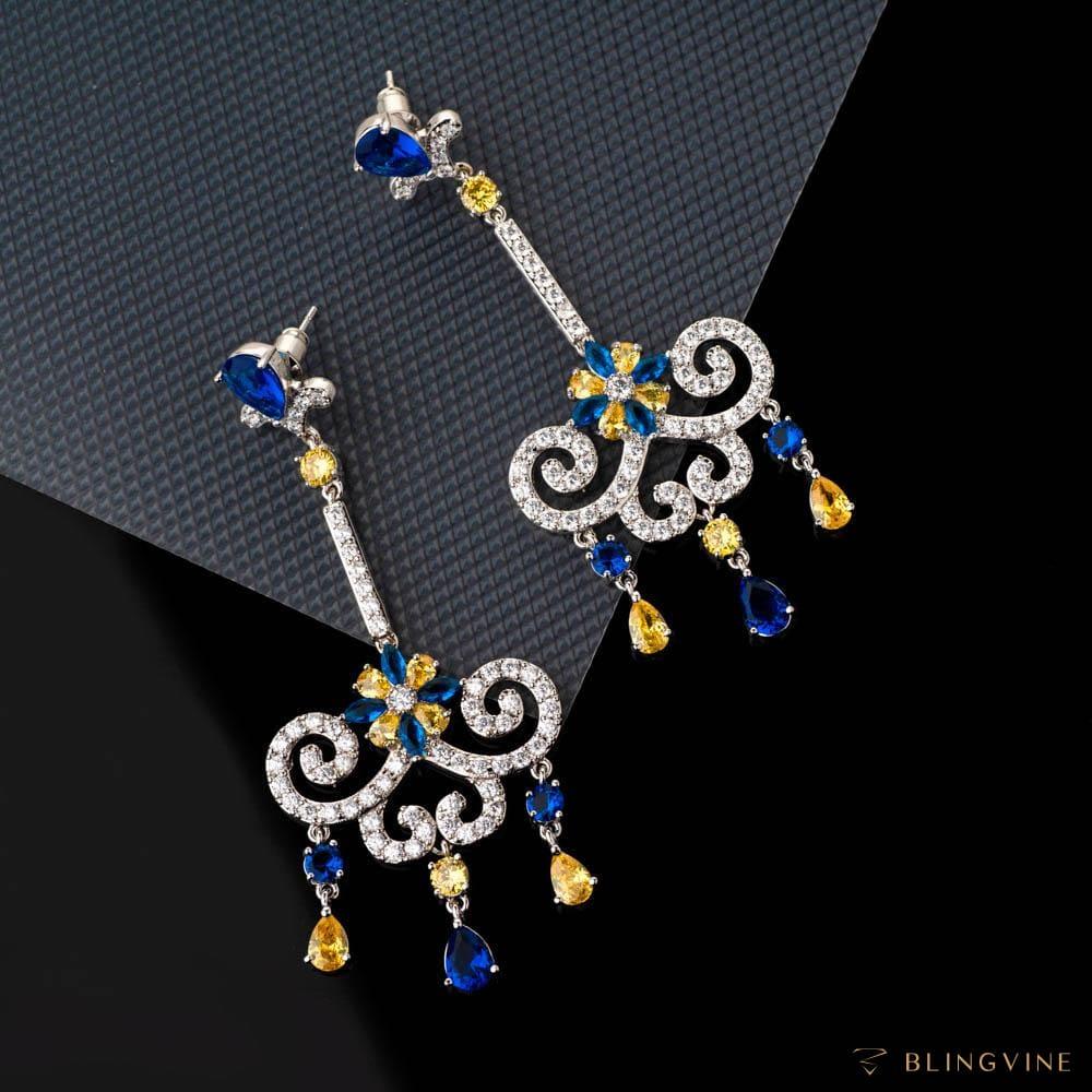 Jalsa Crystal Long Earrings