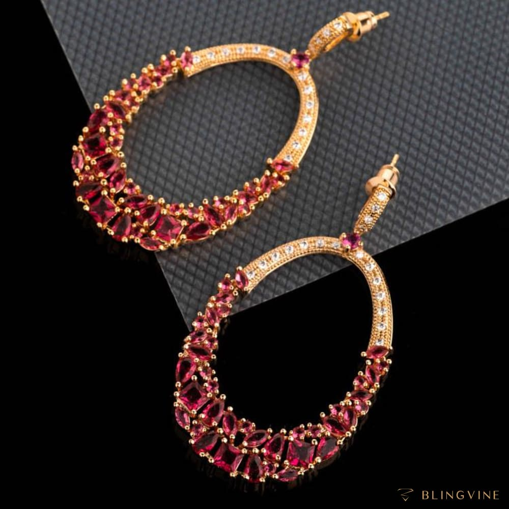Glamista Pink Long Earrings
