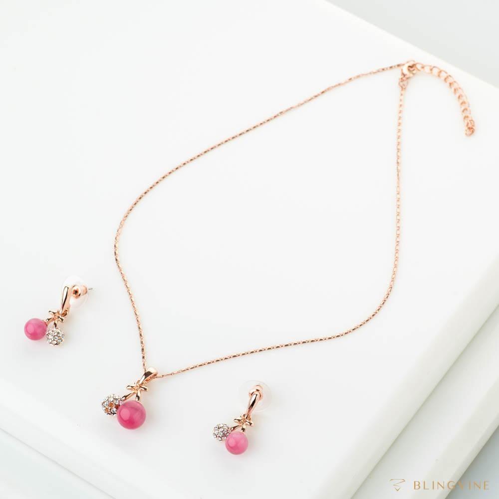 Pretty Pink Pendant Set - BlingVine