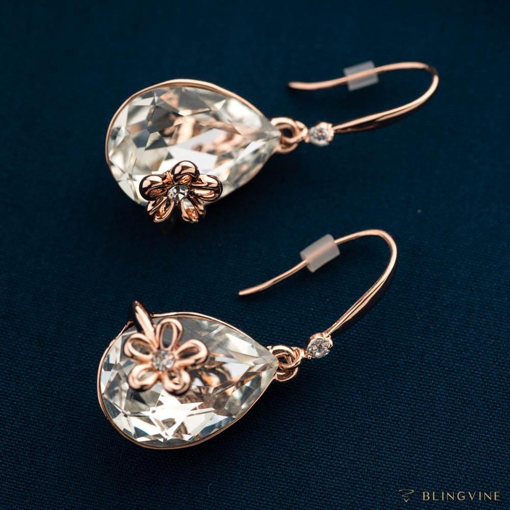 Martha Dangler Earrings - Clear Crystals