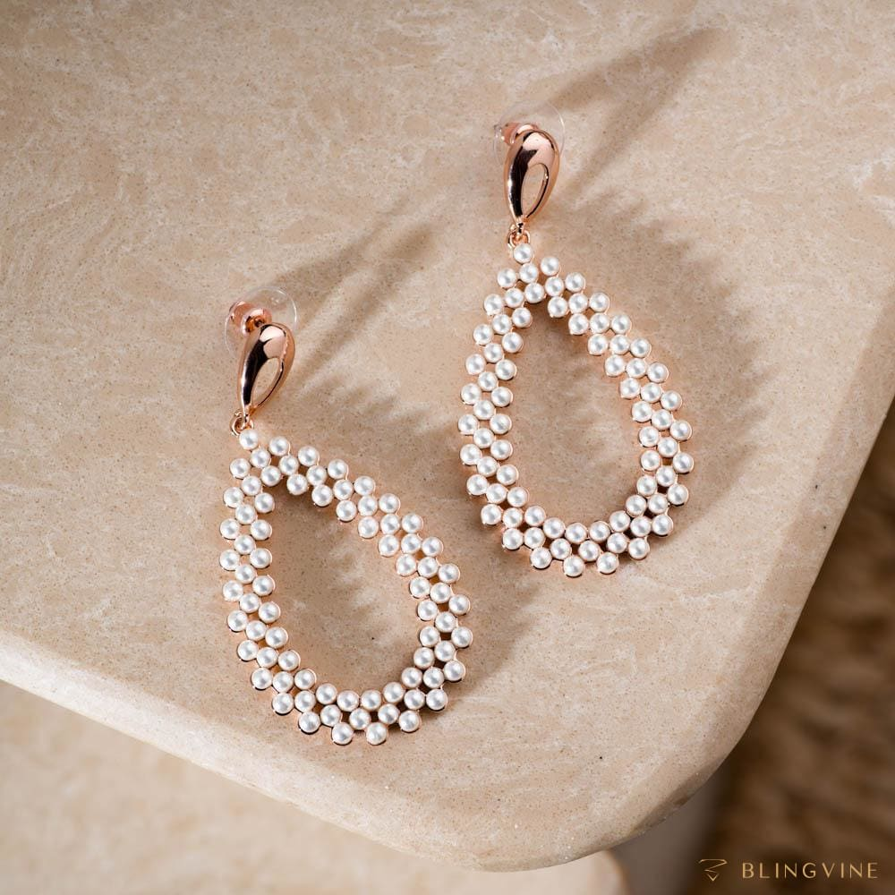 Meher Long Pearl Earrings - Blingvine