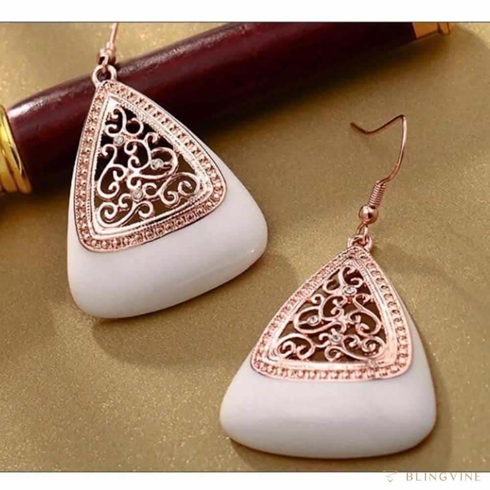 Calligraphy Dangle Earrings