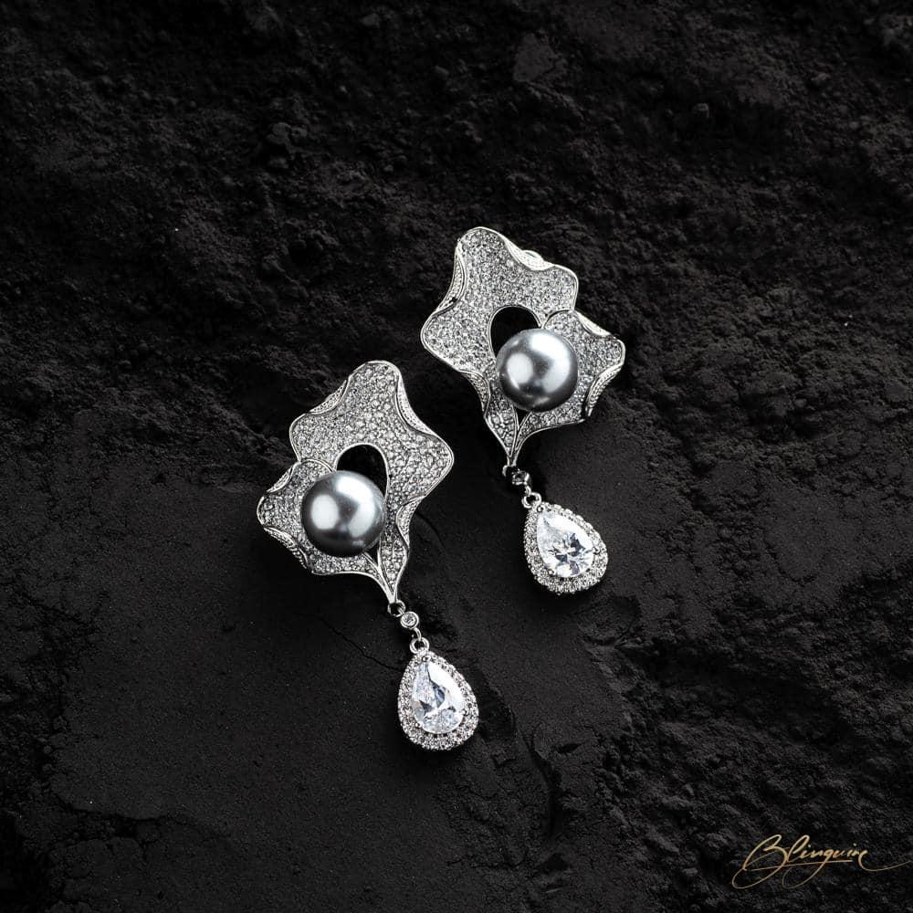 Joanna Pearl Earrings - BlingVine