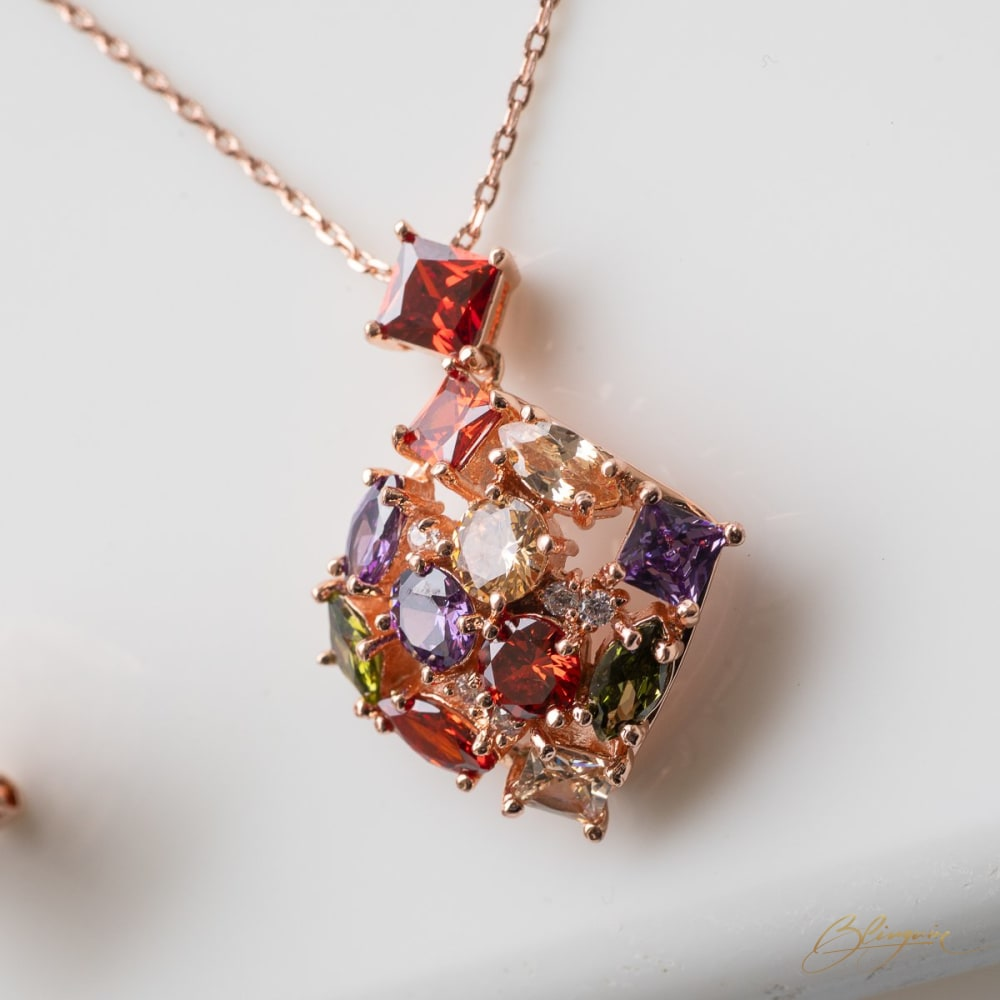 Autumn Flare Pendant Set - BlingVine