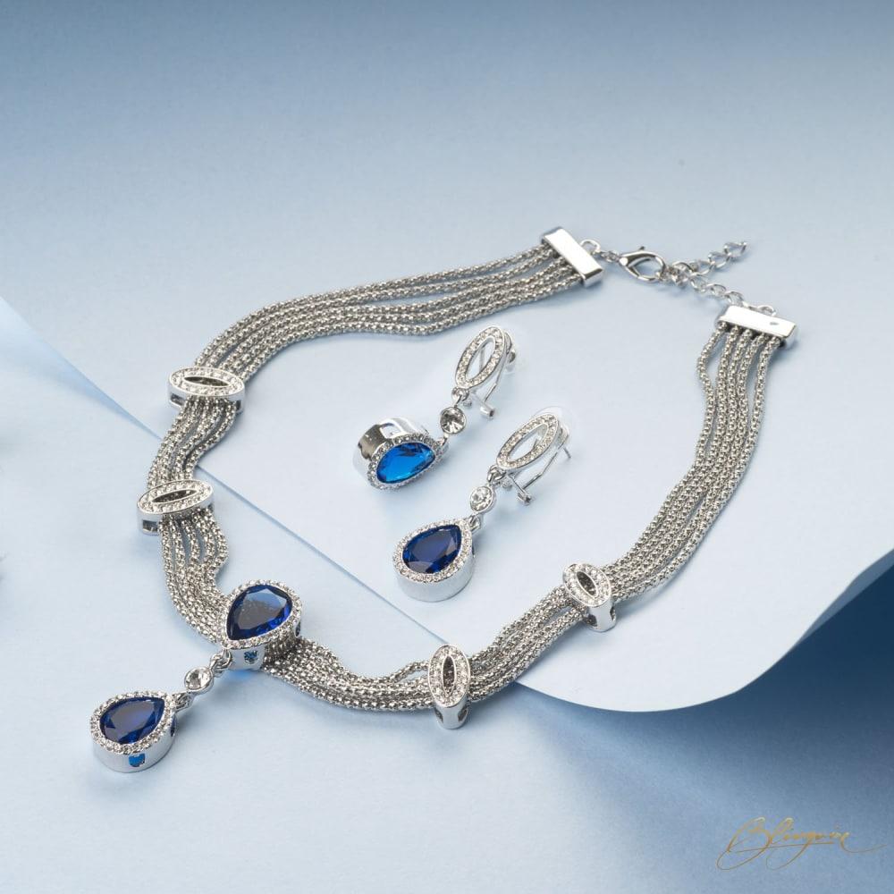 Sapphire Necklace Set - BlingVine