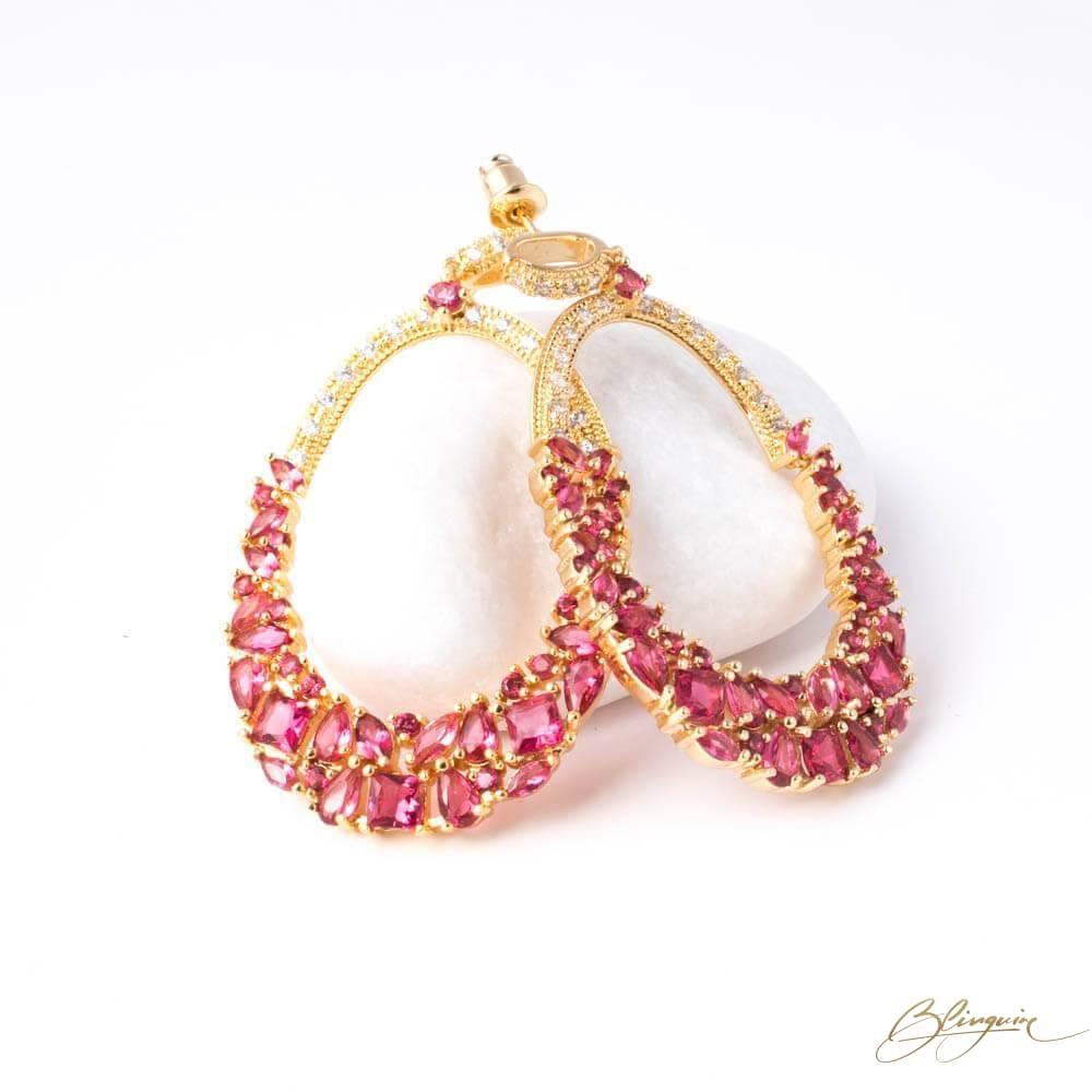 Glamista Pink Danglers - BlingVine