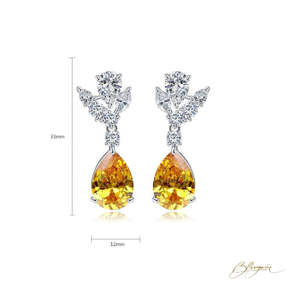 Amber Earrings - BlingVine