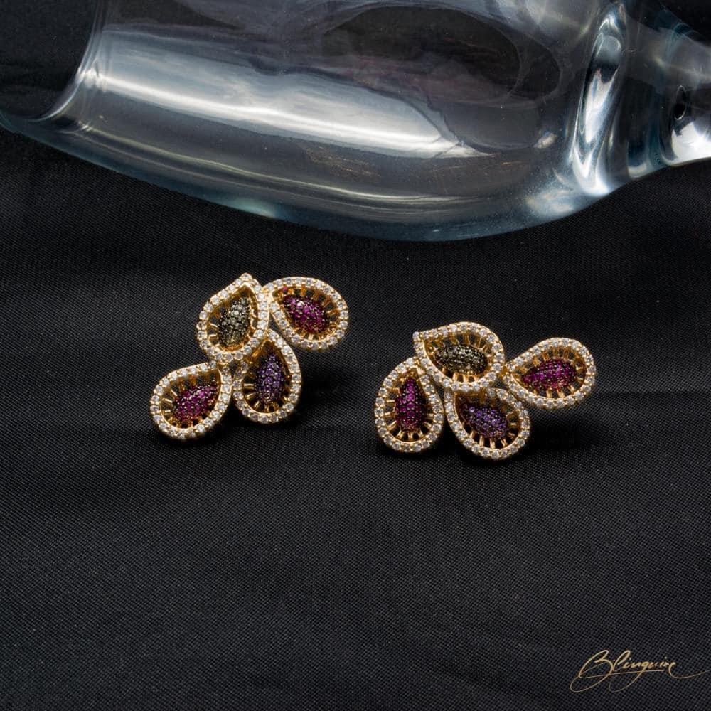 Paisley Crystal Studs - BlingVine