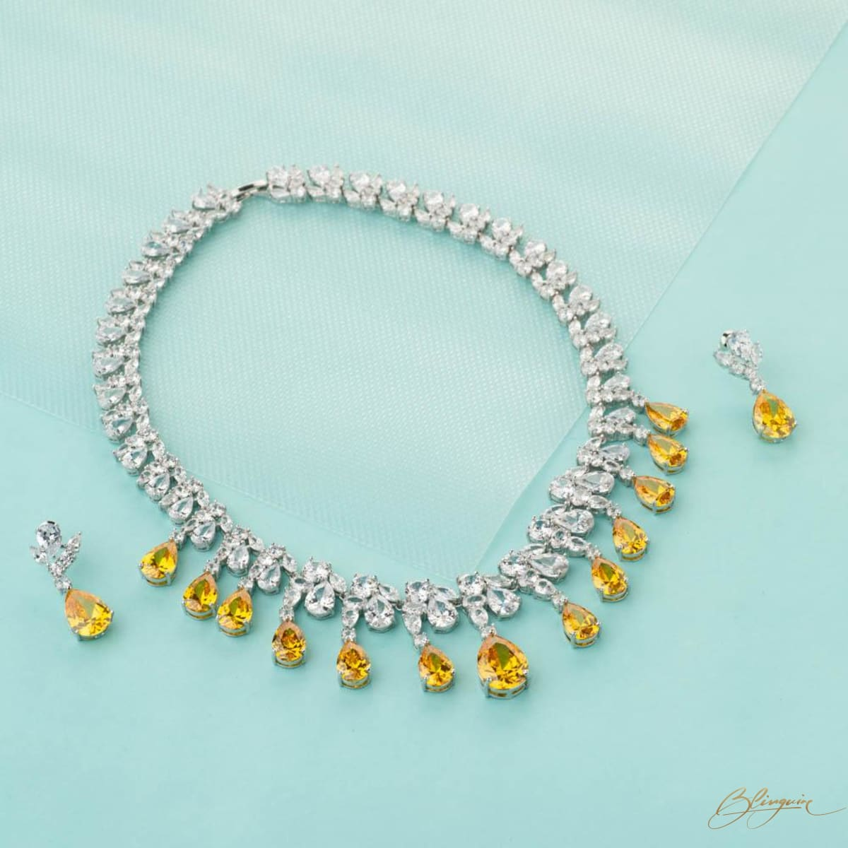 9fd4060189 ... Amber Necklace Set - BlingVine ...