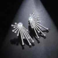 Sunrays Pearl Studs - BlingVine