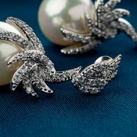 Phoenix Pearl Earrings - BlingVine