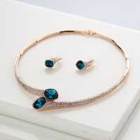 Heart of Ocean Necklace Set - BlingVine