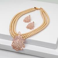 Sunshine Pearl Necklace Set - BlingVine