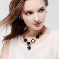 Blue Ocean Necklace Set - BlingVine
