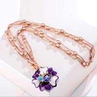 Purple Blossom Necklace - BlingVine