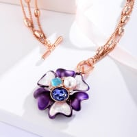 Purple Blossom Necklace