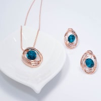 Blue Magic Pendant Set - BlingVine