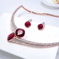 Red Wine Necklace Set