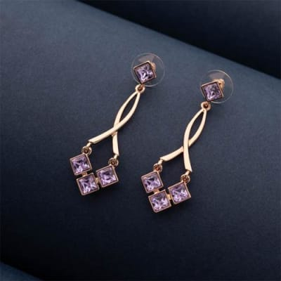 Sugar Plum Crystal Long Earrings - Blingvine Earrings