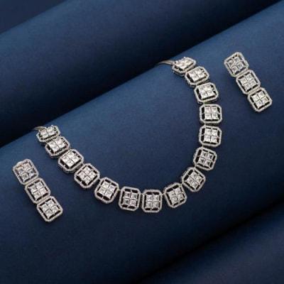 Citylights American Diamond Necklace Set - Blingvine