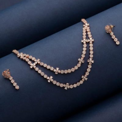 Mademoiselle Crystal Layered Necklace Set - Blingvine