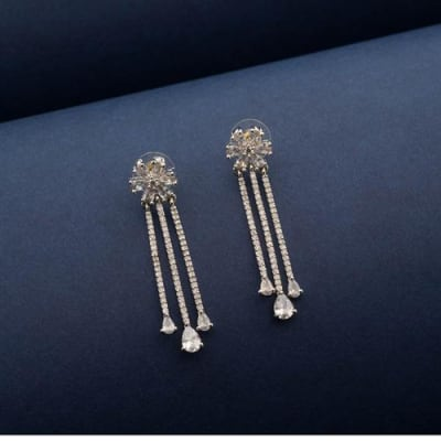 Amisha Crystal Long Earrings - Blingvine