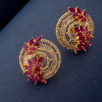 Mohena Studs - Ruby Red