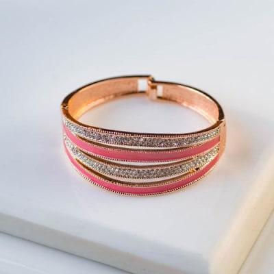 Desert Rose Bangle Bracelet