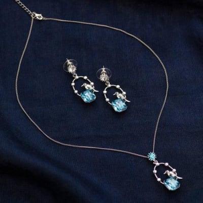 Bulbul Charm Pendant Necklace Set