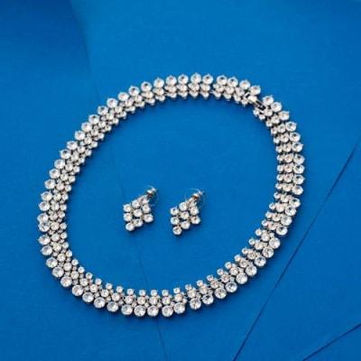 Limelight Crystal Necklace Set - Blingvine