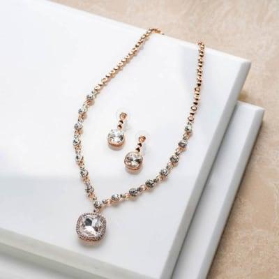 Noor Crystal Necklace Set