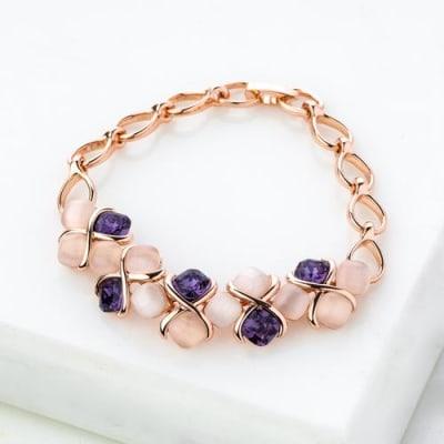 Lavender Love Stone Bracelet