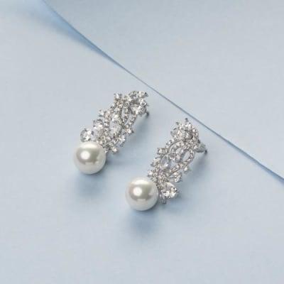 Kyrrah Crystal and Pearl Earrings