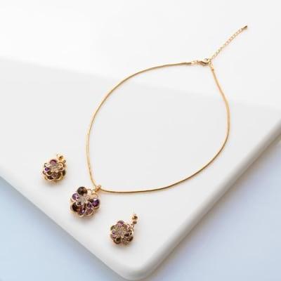Alyssum Pendant Necklace Set