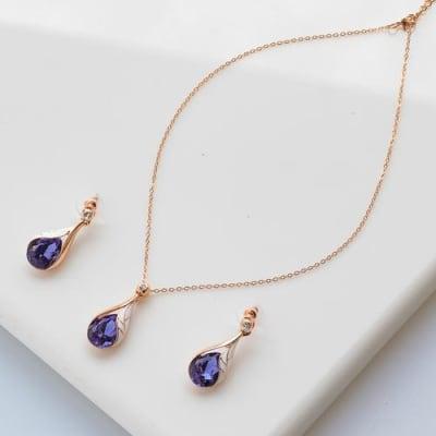 Lavender Love Pendant Set - BlingVine