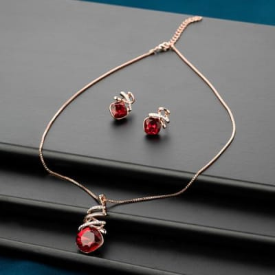 Cherry Pendant Set - BlingVine