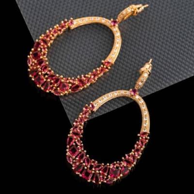 Glamista Pink Long Earrings