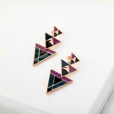 Marina Enamel Long Earrings - BlingVine